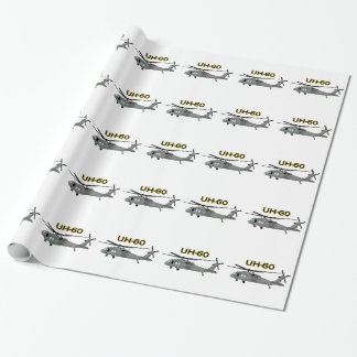 Uh Sixty Black Hawk Wrapping Paper