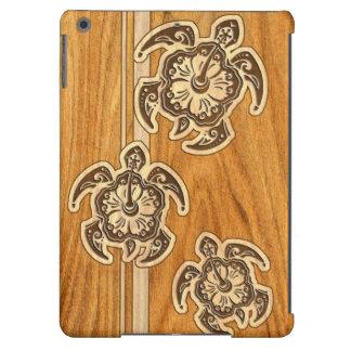 Uhane Honu Faux Wood Hawaiian Turtle iPad Air Case