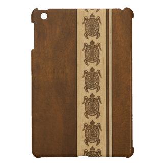 Uhane Honu Faux Wood Hawaiian Turtle iPad Mini Cover For The iPad Mini