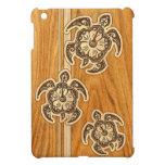 Uhane Honu Faux Wood Hawaiian Turtle iPad Mini iPad Mini Covers