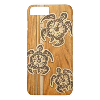 Uhane Honu Faux Wood Hawaiian Turtle iPhone 7 Plus Case