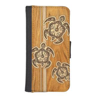 Uhane Honu Faux Wood Hawaiian Turtle iPhone Wallet