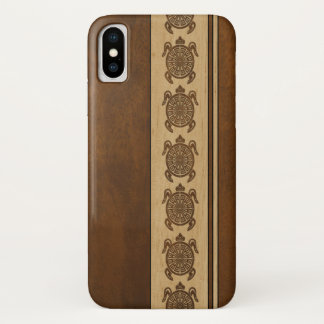 Uhane Honu Faux Wood Hawaiian Turtle iPhone X Case