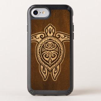 Uhane Honu Faux Wood Hawaiian Turtle Speck iPhone Case