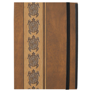 "Uhane Honu Faux Wood Hawaiian Turtle Stripe iPad Pro 12.9"" Case"