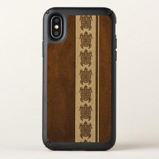 Uhane Honu Faux Wood Hawaiian Turtle Stripe Speck iPhone X Case