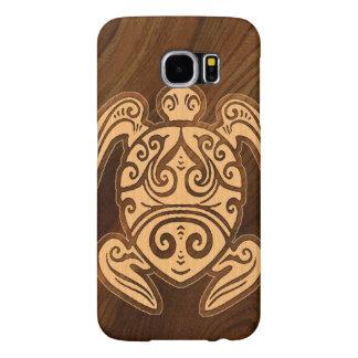 Uhane u'i Honu Faux Wood Hawaiian Turtle Samsung Galaxy S6 Cases