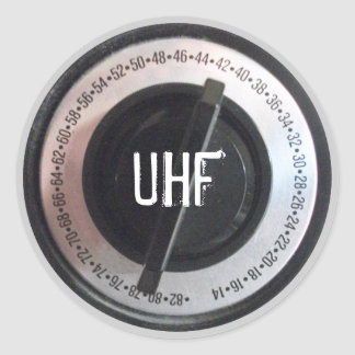 UHF Dial Classic Round Sticker