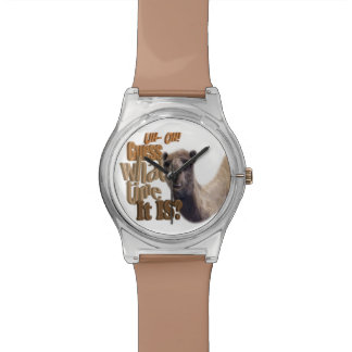 UhOh Guess What Time it is Hump Day Camel Wrist Watches