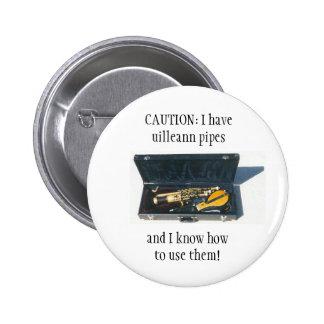 UILLEANN INSTALA TUBOS la insignia del botón/del p Pin Redondo De 2 Pulgadas