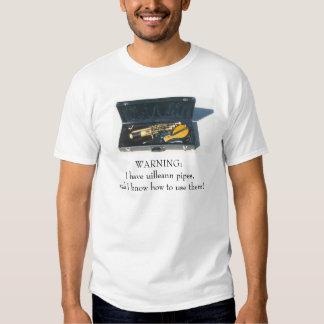 Uilleann pipes tee shirt
