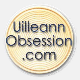 UilleannObsession.com Round Sticker