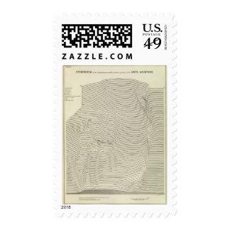 Uinta Mountains Stereogram Postage Stamp