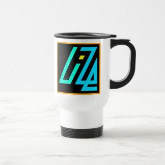 UIZE Mug (black and white travel mug)