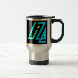 UIZE Mug (brushed metal travel mug)