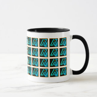UIZE Mug (closely tiled matrix on white)