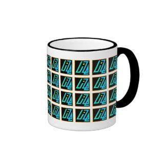 UIZE Mug (closely tiled matrix on white)