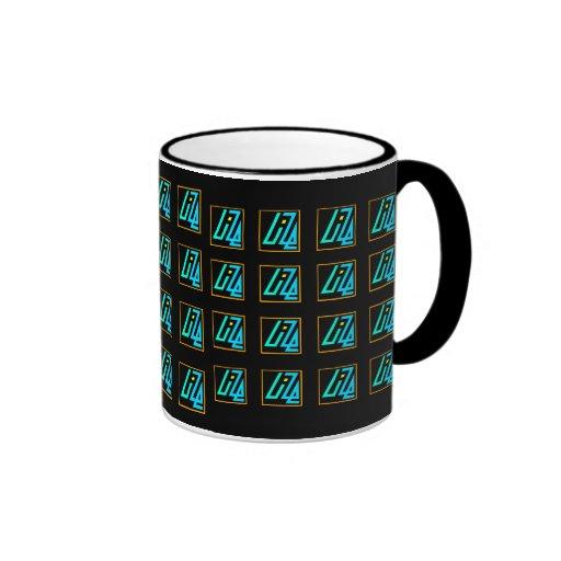 UIZE Mug (tiled matrix on black)