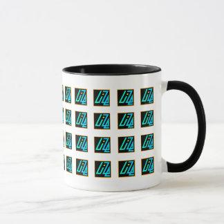 UIZE Mug (tiled matrix on white)