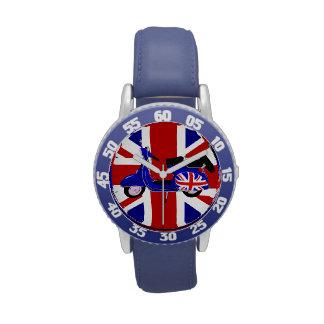UJ Blue Scooter Pop Art Wristwatches