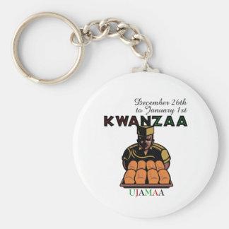 Ujamaa - Cooperative Economics Basic Round Button Keychain