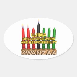Ujima Oval Sticker