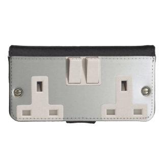 UK AC BS 1363 Electrical Plug Socket iPhone SE/5/5s Wallet Case