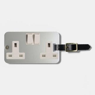 UK AC BS 1363 Plug Socket [British Standard] Bag Tag