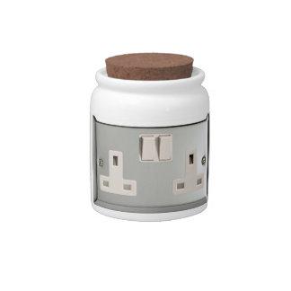 UK AC BS 1363 Plug Socket [British Standard] Candy Jars
