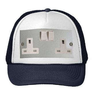UK AC BS 1363 Plug Socket [British Standard] Mesh Hat