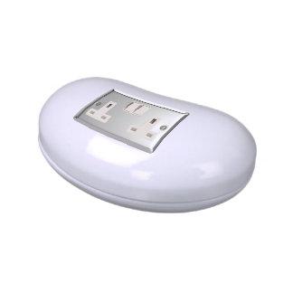 UK AC BS 1363 Plug Socket [British Standard] Jelly Belly Tin