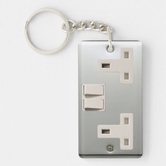 UK AC BS 1363 Plug Socket [British Standard] Keychain