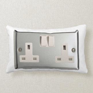 UK AC BS 1363 Plug Socket [British Standard] Lumbar Pillow