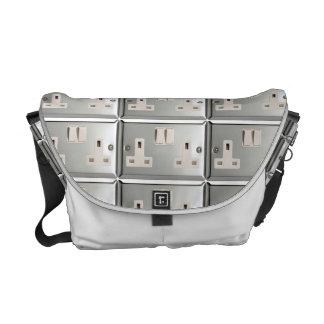 UK AC BS 1363 Plug Socket [British Standard] Messenger Bag