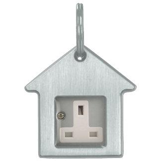 UK AC BS 1363 Plug Socket [British Standard] Pet Name Tag