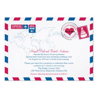 UK Air Mail Wedding Card