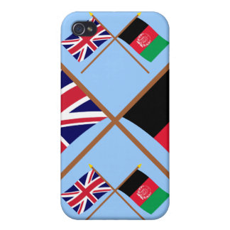 UK and Afghanistan Crossed Flags iPhone 4 Cases