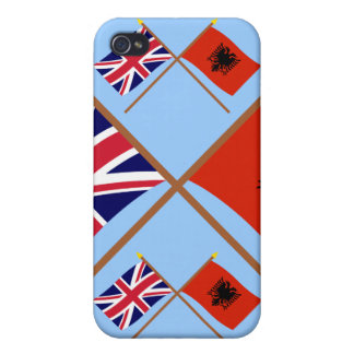 UK and Albania Crossed Flags iPhone 4/4S Case