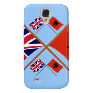 UK and Albania Crossed Flags Samsung Galaxy S4 Case
