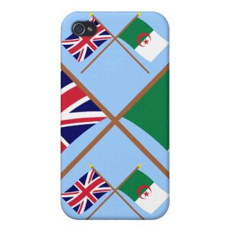 UK and Algeria Crossed Flags iPhone 4 Case