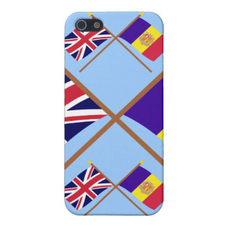 UK and Andorra Crossed Flags Covers For iPhone 5