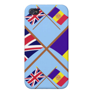 UK and Andorra Crossed Flags iPhone 4/4S Covers