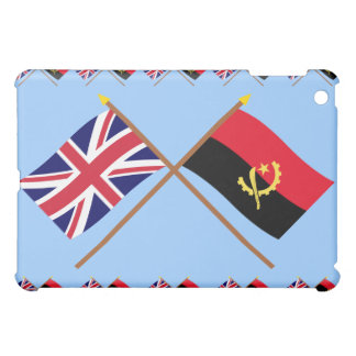 UK and Angola Crossed Flags iPad Mini Cover