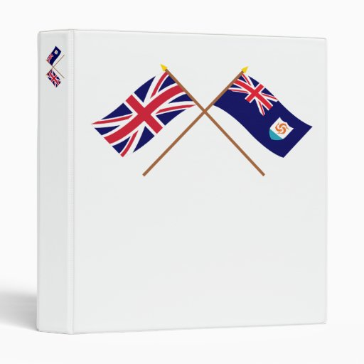 UK and Anguilla Crossed Flags Binder