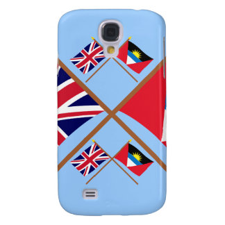 UK and Antigua & Barbuda Crossed Flags Samsung Galaxy S4 Covers