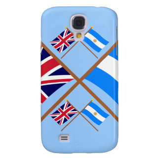 UK and Argentina Crossed Flags Galaxy S4 Covers