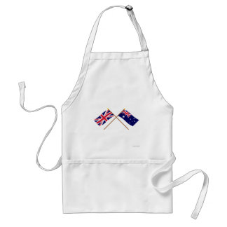 UK and Australia Crossed Flags Adult Apron