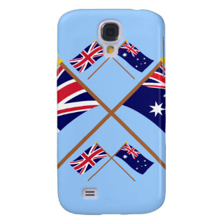 UK and Australia Crossed Flags Samsung Galaxy S4 Cover