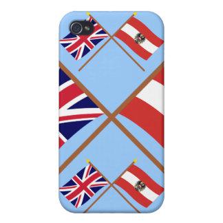 UK and Austria Crossed Flags iPhone 4/4S Cases