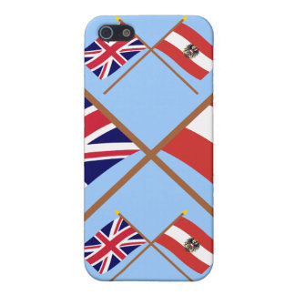UK and Austria Crossed Flags iPhone 5/5S Case